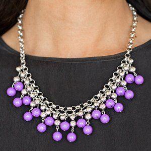 2 Piece Purple & Silver Set J-654